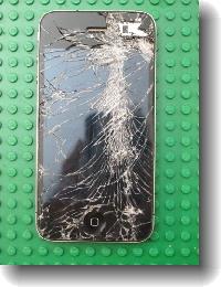 こわれたiPhone1縮小