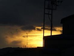 台風一過の夕暮れ