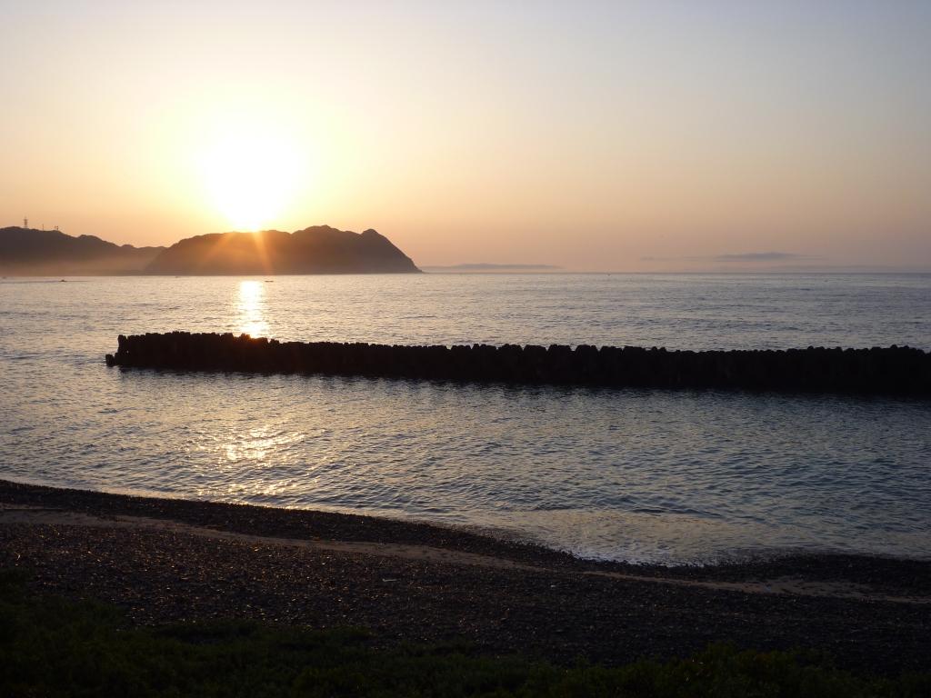 宍喰海岸 日の出
