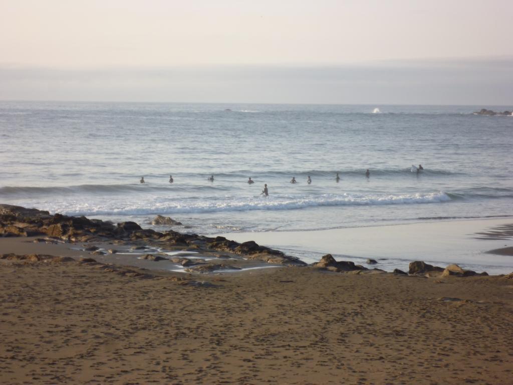 生見海岸 到着