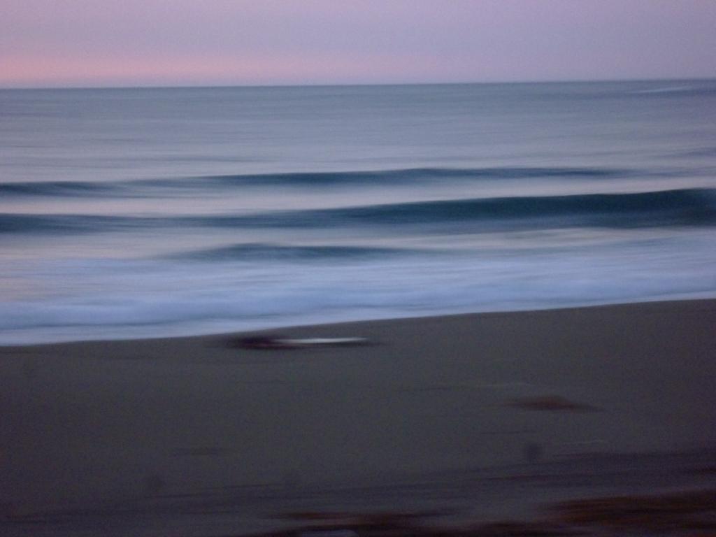 程好い波で