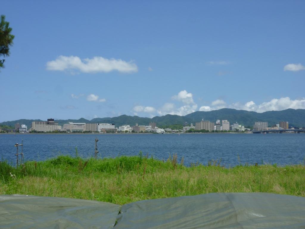嫁が島から見た松江市内