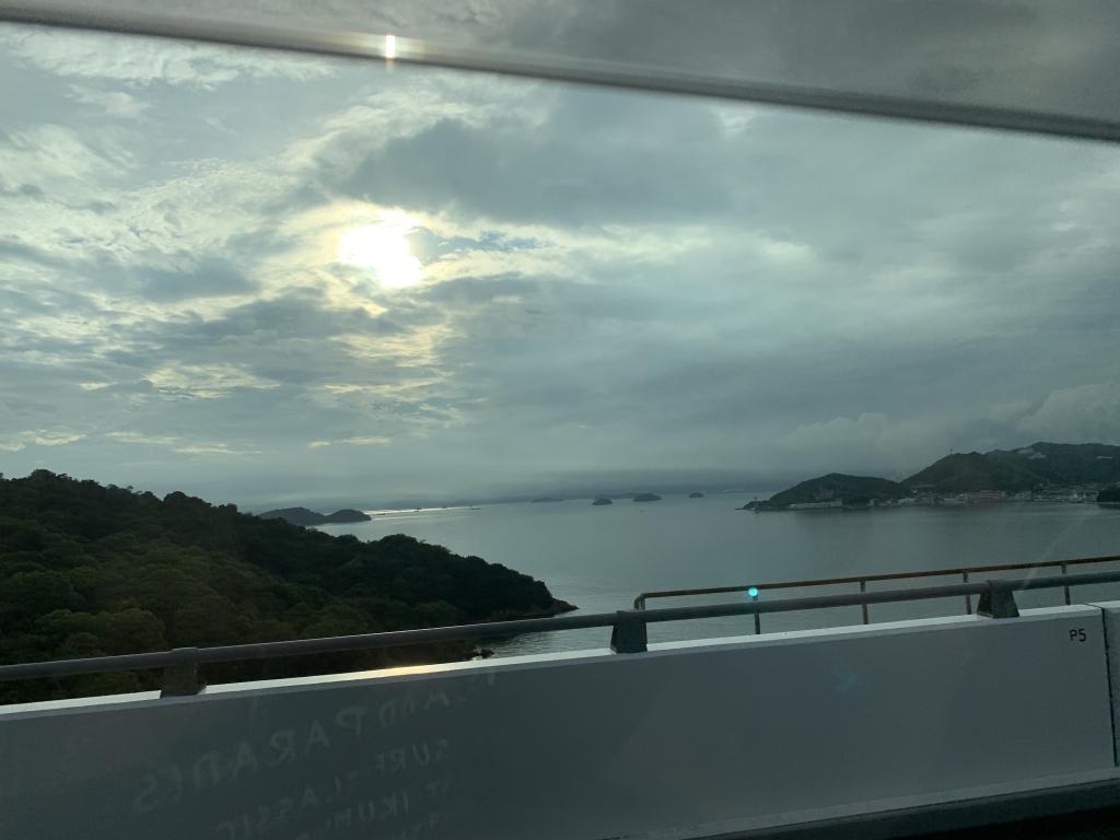 瀬戸大橋から夕焼け