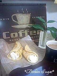 クレープでコーヒータイム
