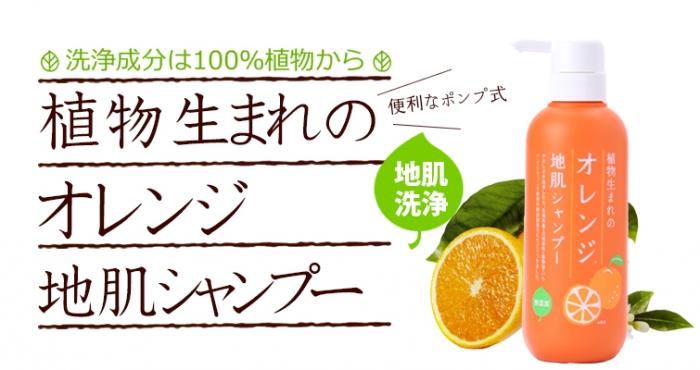 「植物生まれのオレンジ地肌シャンプーN」の成分解析