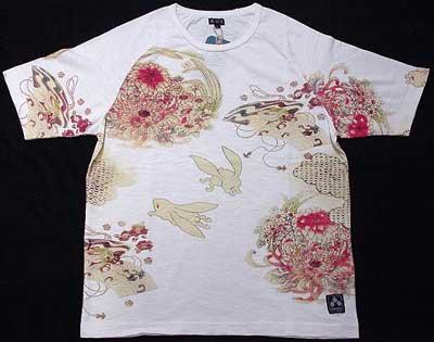 ちきりやカラーTシャツ「蛙兎」