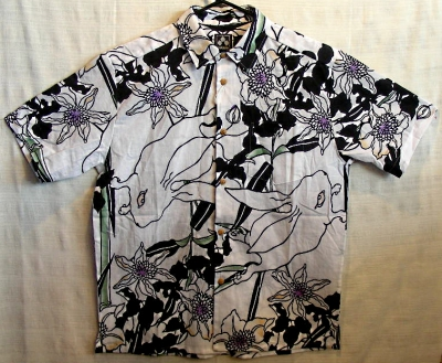 ちきりや手拭いシャツ『鉄線兎』