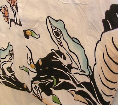 手拭いシャツ蛙3