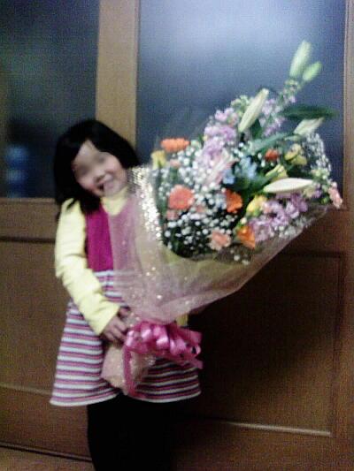 母の召天記念4周年に宮川さんからもらった花束