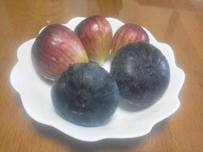 イチジクの実(紫タイプと赤タイプ)