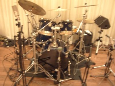 ドラムの音響セッティング