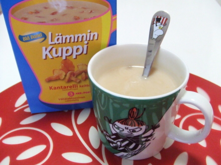 アンズタケのスープ