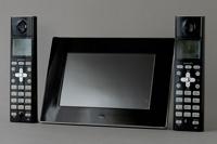 中古,SHARP,シャープ,JD-7C1CW,インテリア,ホン,子機,2台,タイプ,デジタル,フォト,フレーム,コードレス,デザイン,電話機