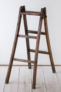 アンティーク,古い,木製,はしご,梯子,B,ハシゴ,ラダー,脚立,カフェ,雑貨,ショップ,ディスプレイ,什器,花台,クウネル,天然生活,レトロ
