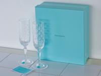 未使用,箱入,TIFFANY,ティファニー,フローレット,シャンパン,グラス,ペア,フルート