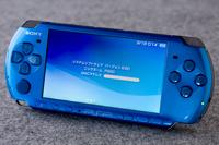 中古,美品,SONY,ソニー,PSP-3000,VIBRANT BLUE,バイブラント・ブルー,動確済,元箱,付属品有