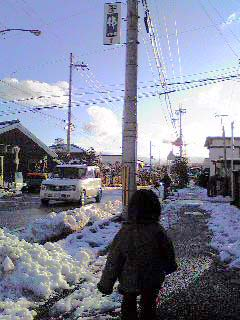 こぶたの雪の日