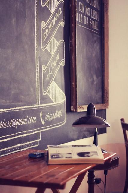 黒板のあるインテリア。