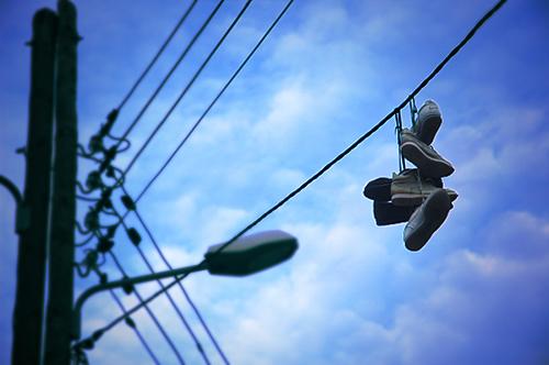 バルセロナの靴空