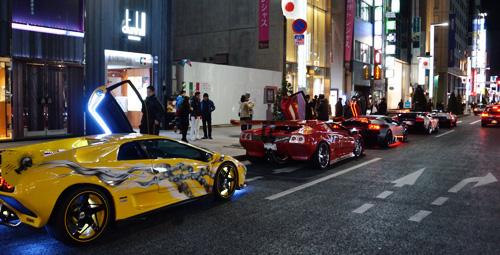 2011/12/31/銀座/スーパーカー達