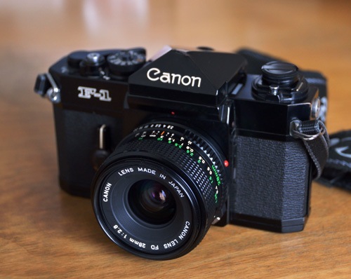Canon F-1+New FD 28mm/f2.8