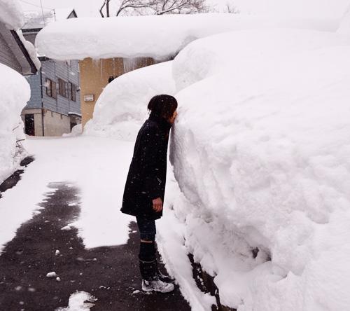 米沢旅行/雪を食べる
