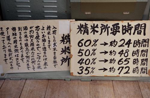 米沢旅行/精米時間