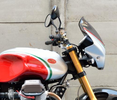 MotoGuzzi V11 Coppa Italia ハンドル&カウル周り右真横