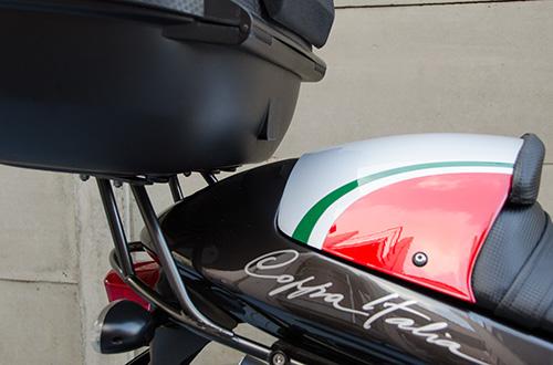 MotoGuzzi V11 Coppa Italia 用ワンオフ・クラウザートップケース用ステー13