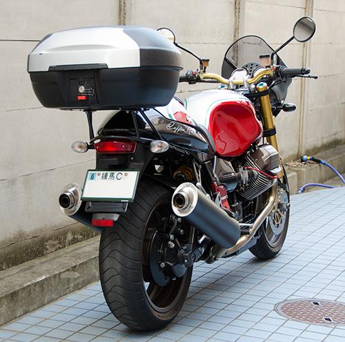 MotoGuzzi V11 Coppa Italia 用ワンオフ・クラウザートップケース用ステー15