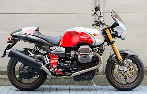 MotoGuzzi V11 Coppa Italia 用ワンオフ・クラウザートップケース用ステー16