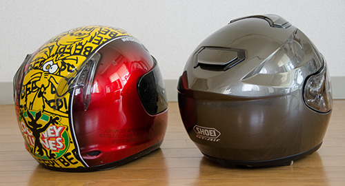 SHOEI GT-AirとX-9(2)