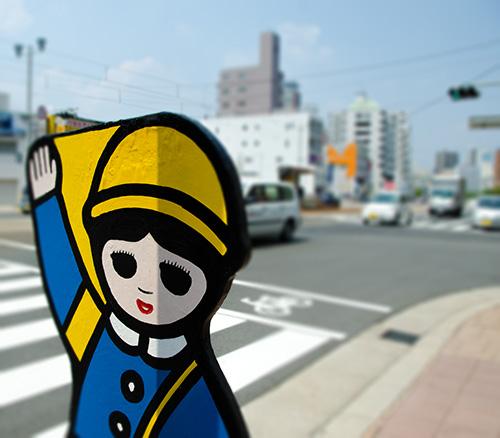 横断歩道のキャラクター