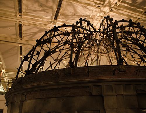 平和記念資料館:原爆ドームの屋根(1:1)