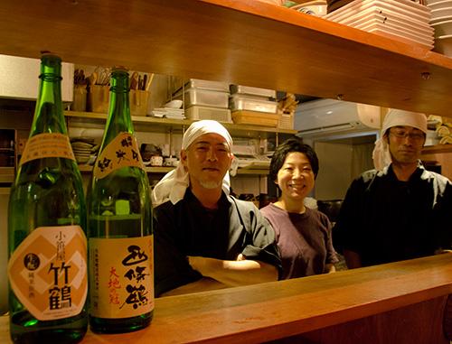 八丁堀の『あんべえ』の人達と広島の美味い日本酒