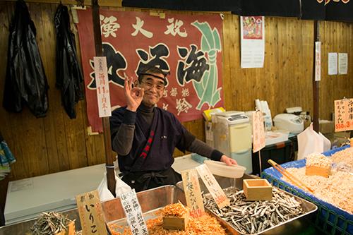 巣鴨初詣/物産売りのおじさん