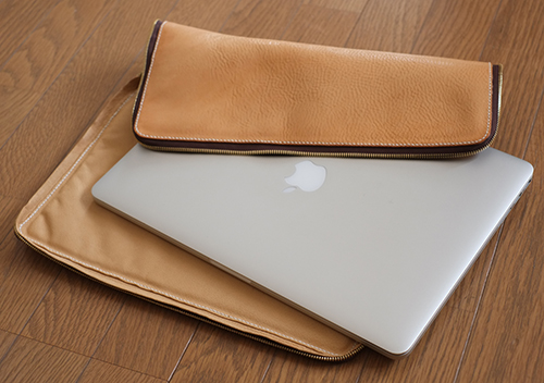 MacBookPro Retina/17inch用 ヌメ革ケース2