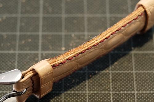 LIMES用手縫革ベルトのコバ1