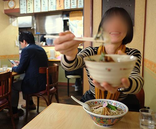『らぁめん とん平』で食べて。