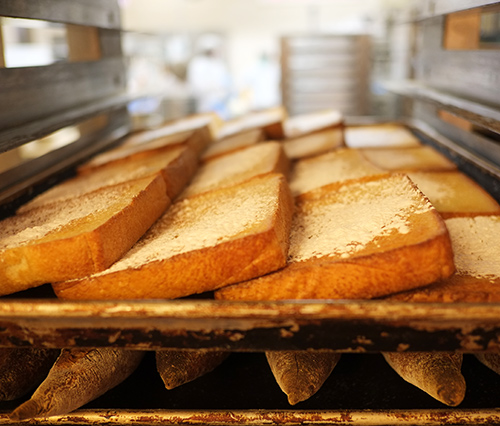 音麦の出来立てフレンチトースト