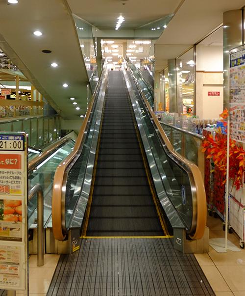 長崎屋帯広店 エスカレーター