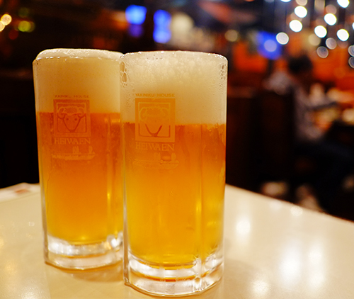 帯広平和園で地ビール