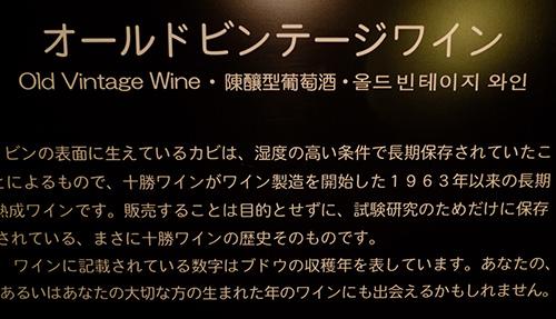 ワイン城地下の貯蔵庫