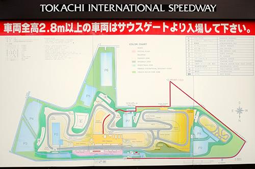 十勝スピードウェイのコース図