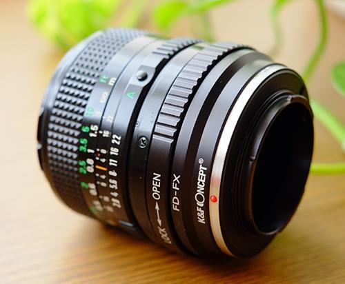 Canon New FD28mm f2.8 + K&F CONCEPT FD-FXマウント・アダプター