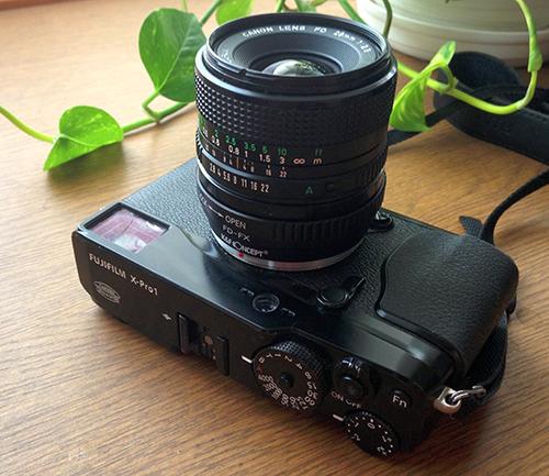 Canon New FD28mm f2.8 + K&F CONCEPT FD-FXマウント・アダプター + FUJIFILM X-Pro1