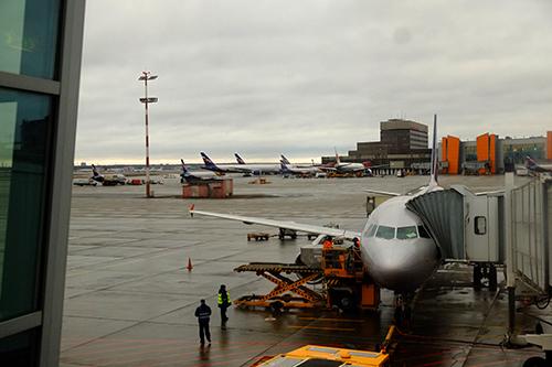 モスクワ・シェレメチボ空港/SU261便パリ行き