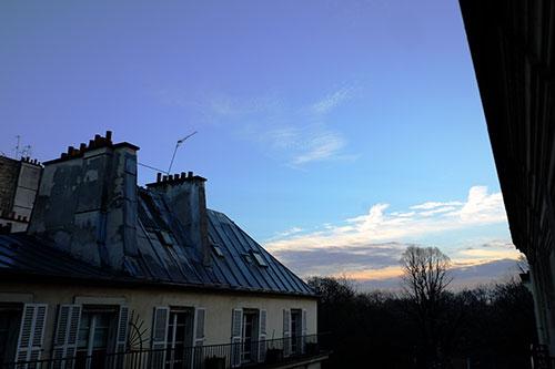 パリ、3日目の朝の空