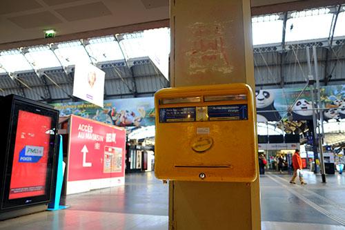 リヨン駅のポスト