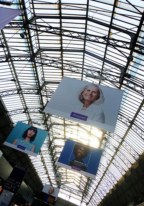 パリ東駅コンコースのガラス天井